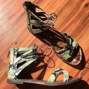 Sam Edelman Snake Skin Sandals 8